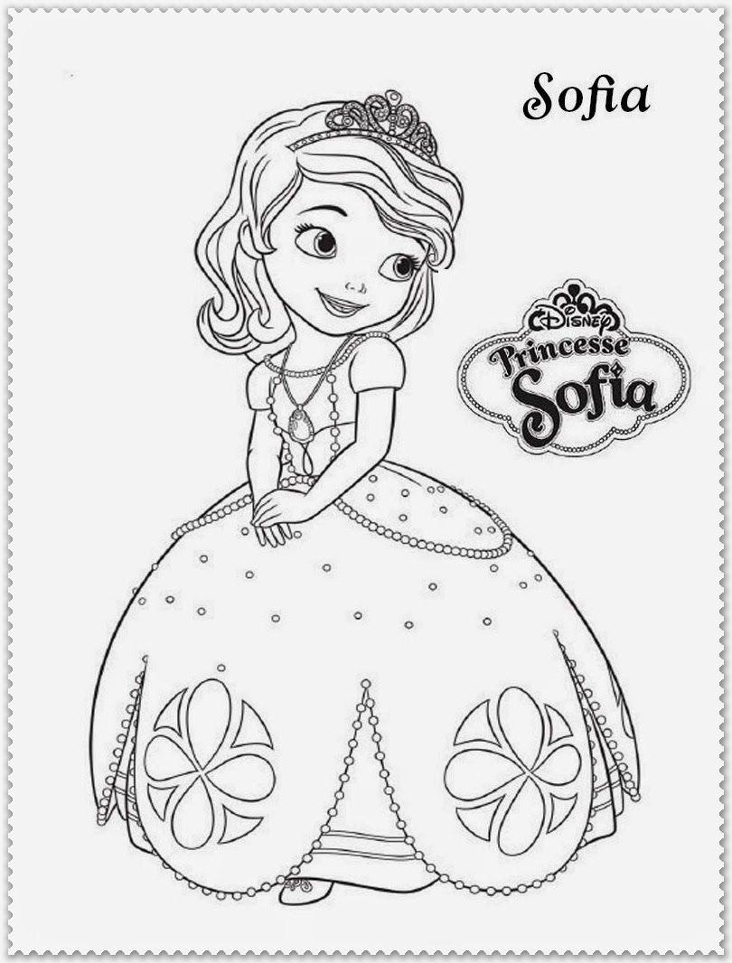 Mewarnai Kartun Sophia Dengan Gambar Buku Mewarnai Kartun Warna