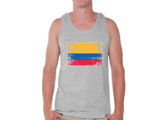 Colombia Flag Tank Top for Men Colombian Muscle Shirts Colombia Tshirt for Men  Colombia Soccer Tank 3e03db29a
