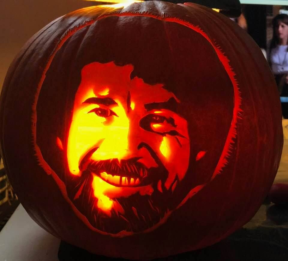 bob ross pumpkin template  Bob Ross in 5 | Pumpkin carving contest, Pumpkin carving ...