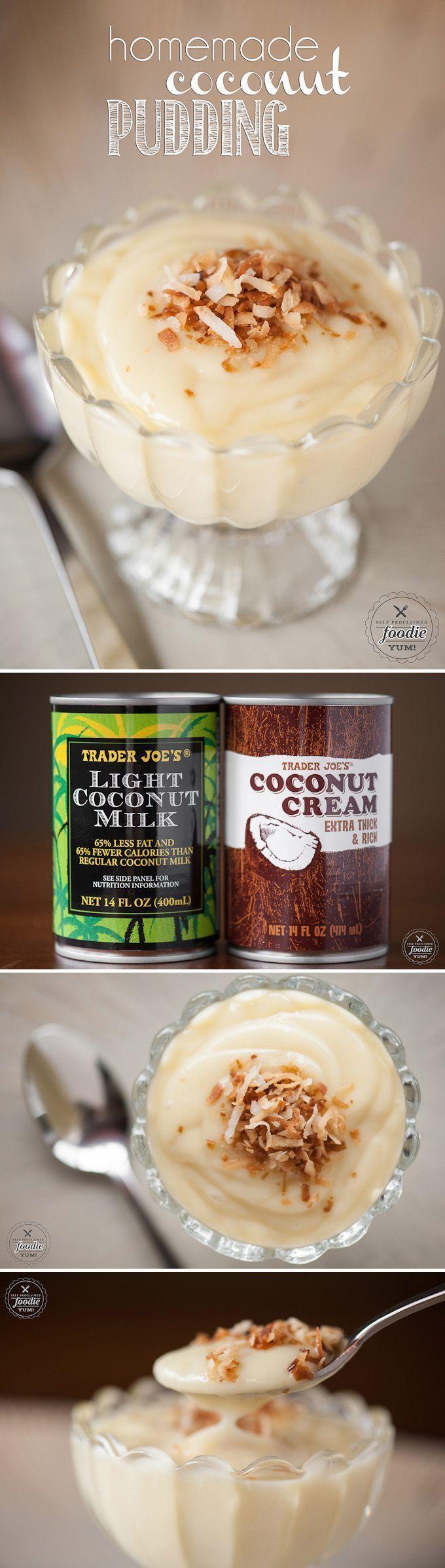 Dieser altmodische hausgemachte Kokosnusspudding aus Kokosmilch und Kokos ...   - recipes -