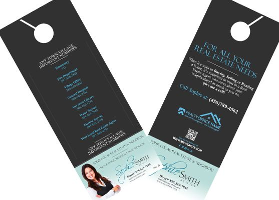 Real Estate Door Hangers | Creative Real Estate Door Hanger Template |  Modern Door Hangers |