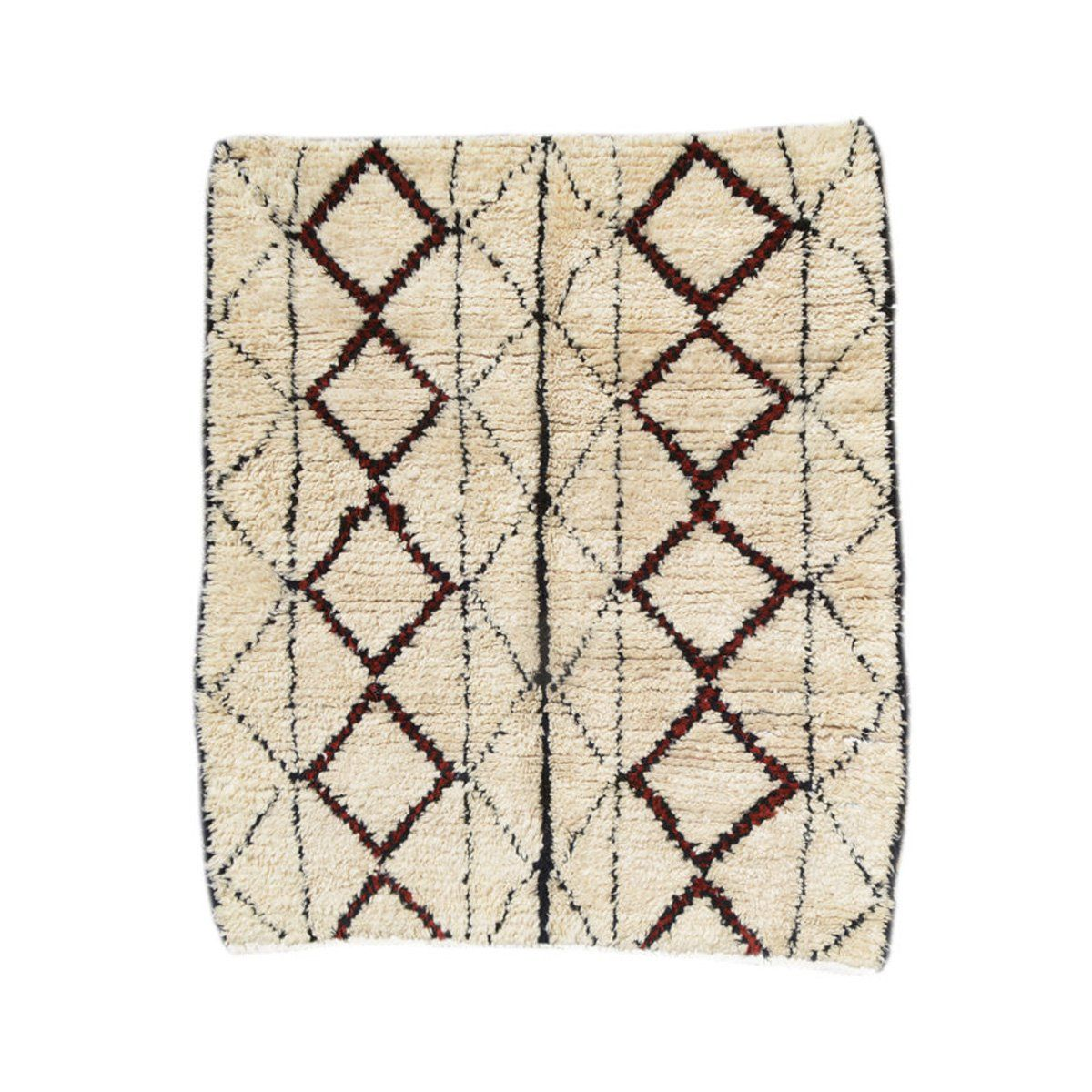 A one-of-a-kind, handmade rug, individually selected in Morocco.