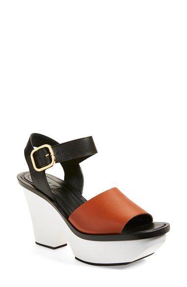 Marni Platform Wedge Sandal (Women) available at #Nordstrom