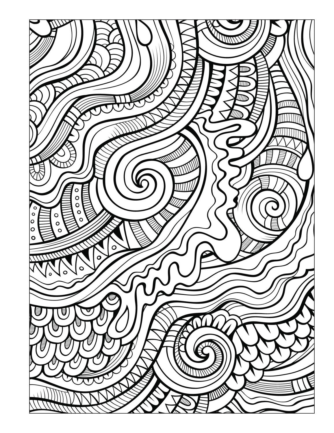 Ocean Coloring Book For Seniors Men Abstract Coloring Pages