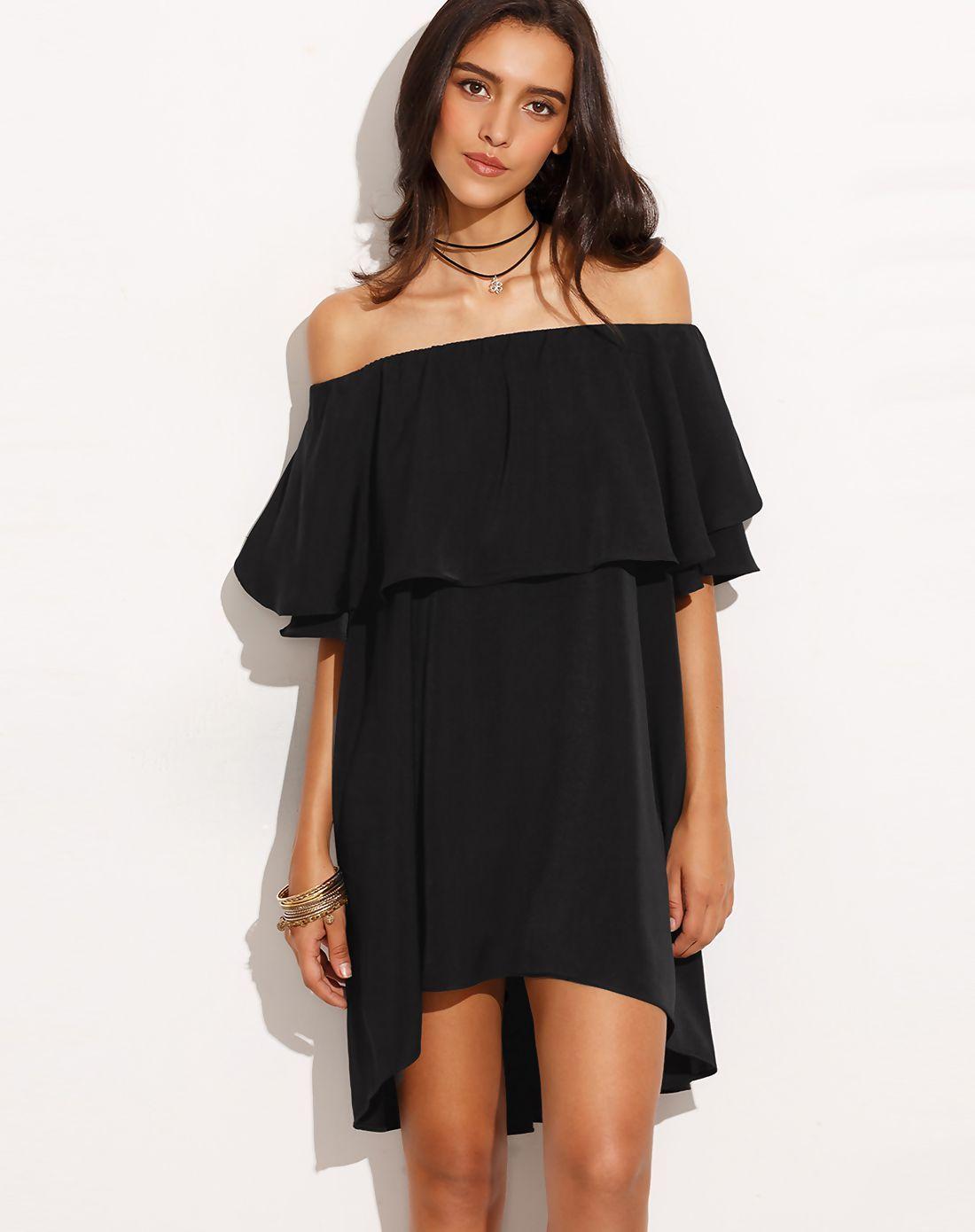 Adorewe vipme aline dressesdesigner akova black tulip boat