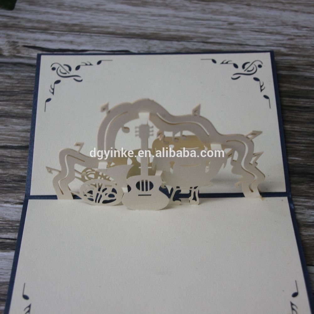 New Fashion Design Handmade 3d Greeting Card Hot Sale Creative