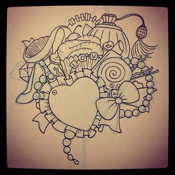 Tattoo Outlines For Girls: This Looks So Good, Such A Cute Tattoo Outline