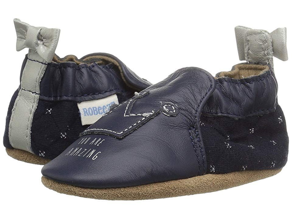 Robeez You Are Amazing Soft Sole Infant Toddler Navy Girl S Shoes For Robeez Size Chart What A Fun And Fresh Little Soft Sole For Your Li Toddler Girl Shoes