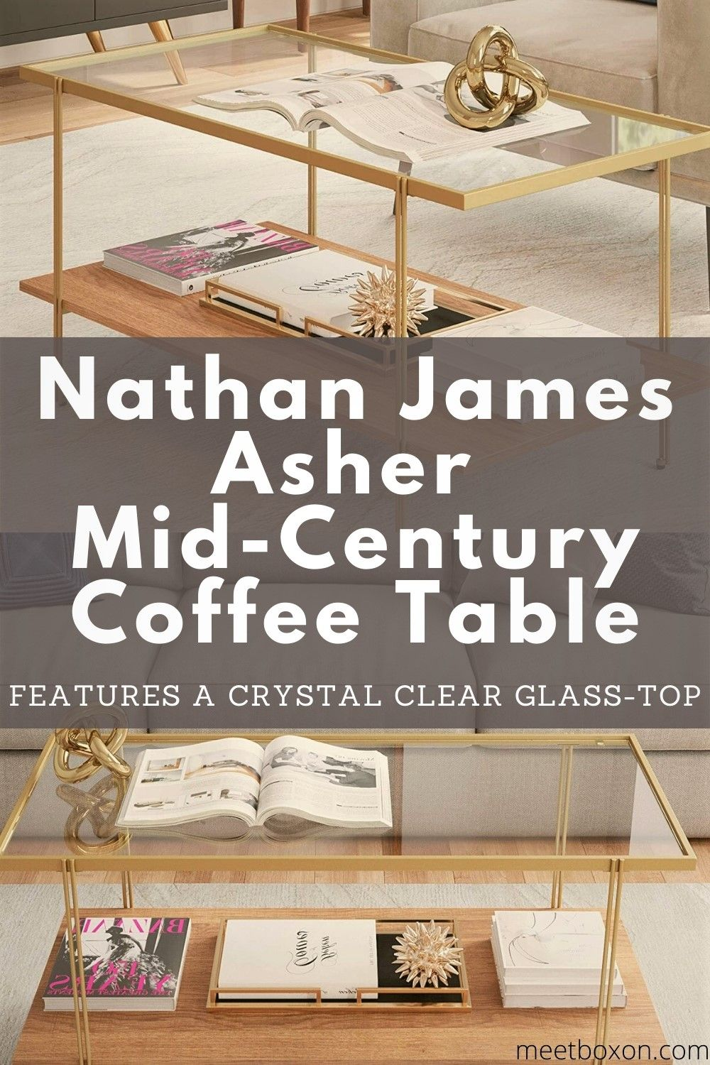 Nathan James Asher Mid Century Rectangle Coffee Table Coffee Table Rectangle Gold Coffee Table Mid Century Coffee Table [ jpg ]