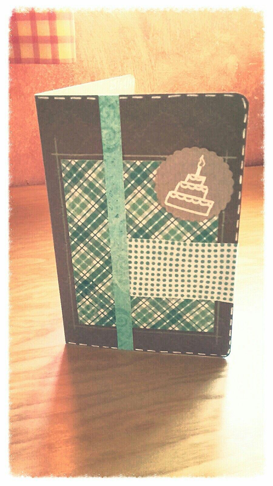 Tarjeta de cumpleaños #scrapbook