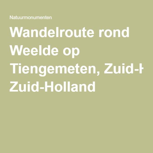 Wandelroute rond Weelde op Tiengemeten, Zuid-Holland