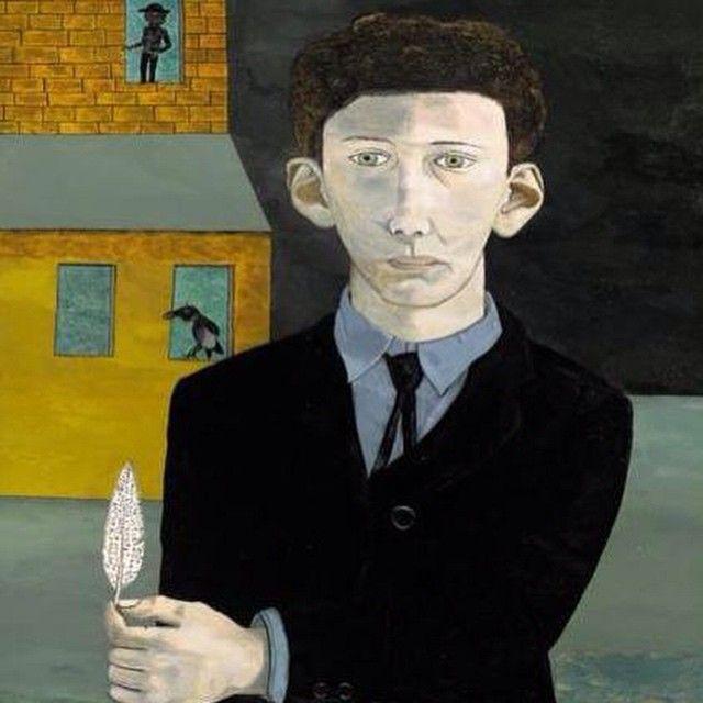 «Мужчина с пером (сюрреализм), частная коллекция, 1943 год.  Люсьен Фрейд.»