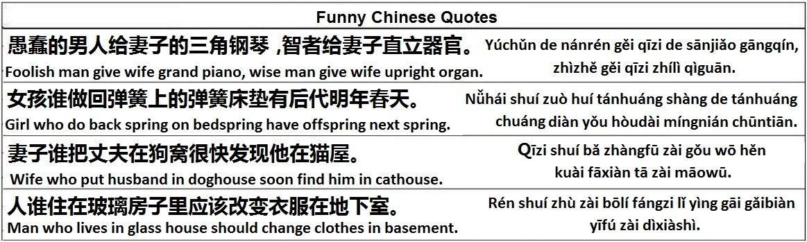funny chinese quotes