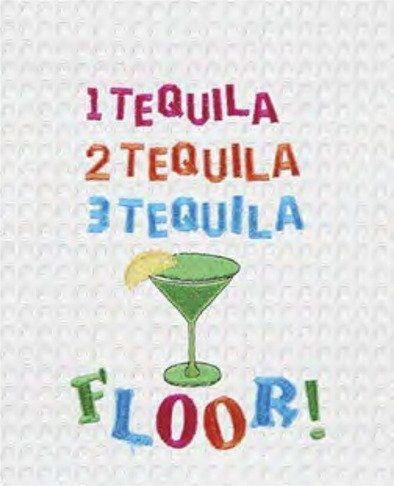 1 Tequila 2 Tequila 3 Tequila Floor Waffle Weave Kitchen Towel Kitchen Towels Waffle Weave Mug Rug