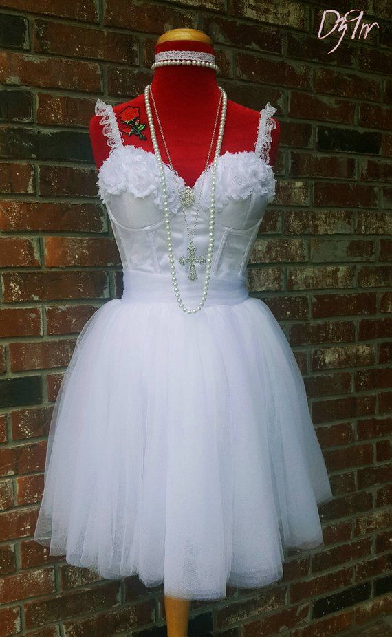266a798cc7e 2017 80s Girls Just Wanna Have Fun- White Bachelorette Party Dress- Madonna  Like a Virgin Outfit- Hi