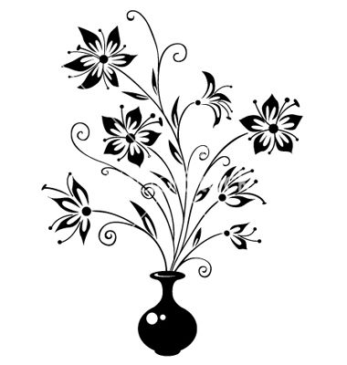 Bouquet Of Flowers Vector Image On Vectorstock Flower Vase Drawing Easy Flower Drawings Simple Flower Drawing