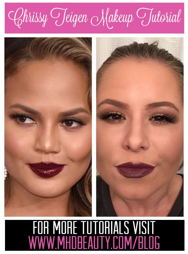 Do your makeup like Chrissy Teigen from the Oscars 2015! Video Tutorial on the blog