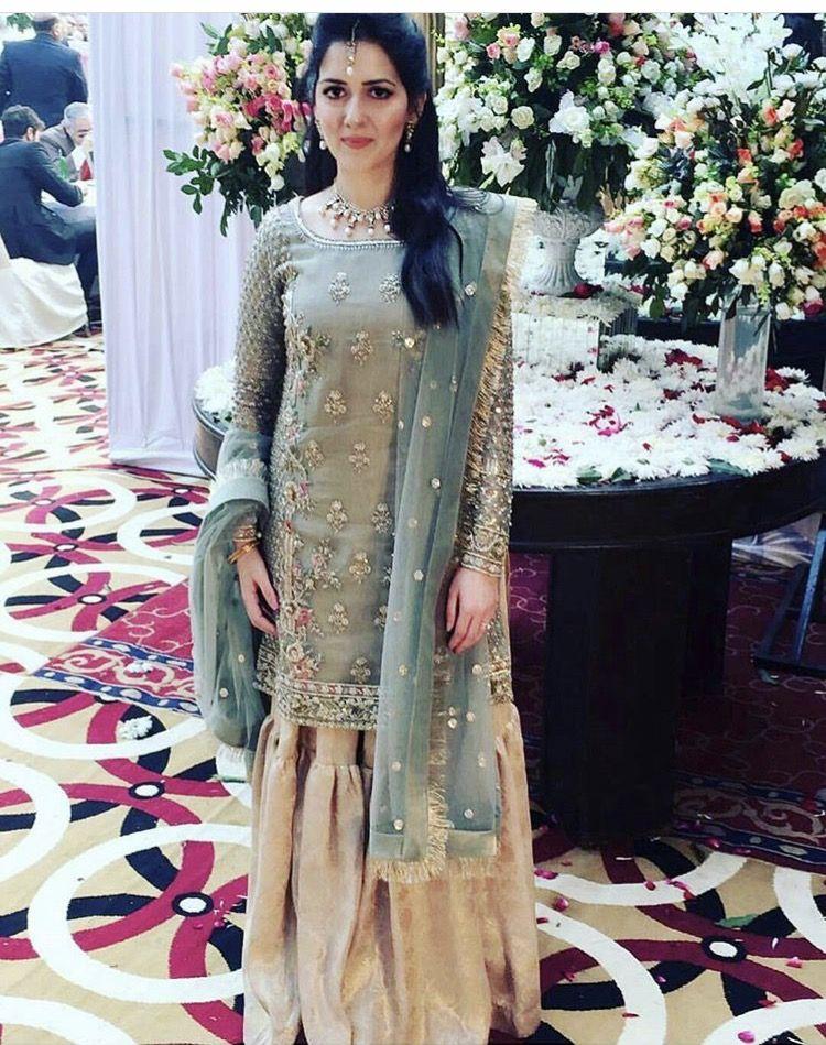 a9d8d09e50 Zara shahjahan | Pakistani valima brides in 2019 | Gharara designs ...