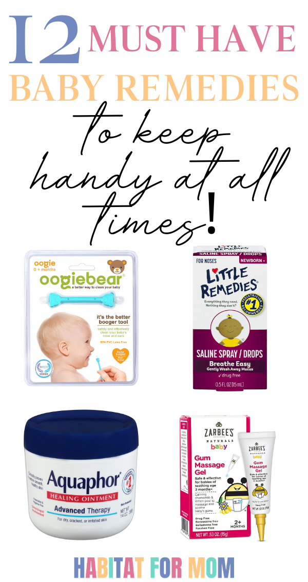 Baby remedies for infants. Sick remedies for teething, cold and congestion, gas ...