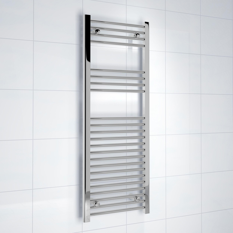 Kudox Silver Towel Rail H1200mm W450mm