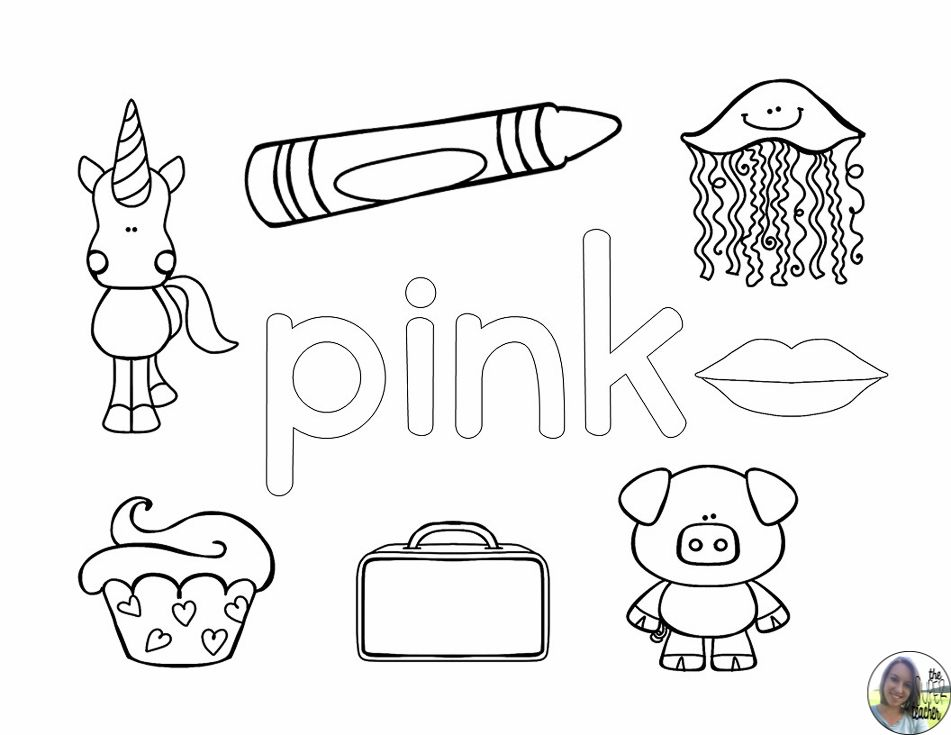 Funky Pink Coloring Pages Crest - Ways To Use Coloring Pages ...