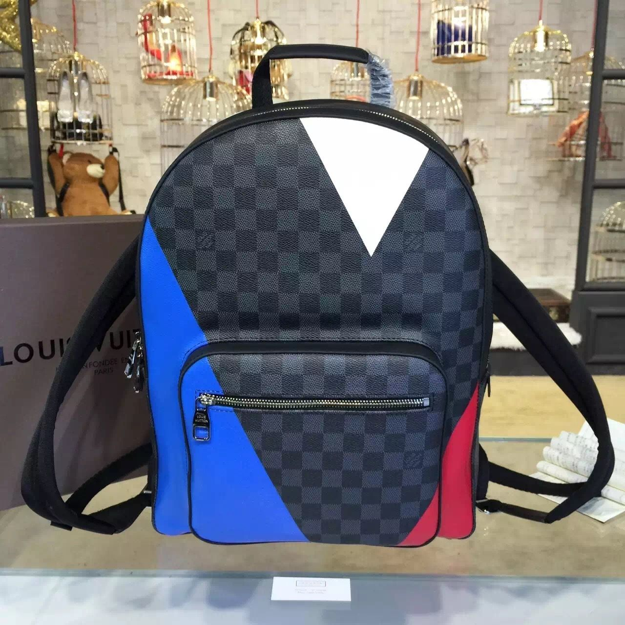 8f925f96da94 Louis Vuitton Josh Americas Cup Backpack Damier Ebene Canvas Macassar  Fall Winter 2016 Collection M41530 - My Luxe Fashions