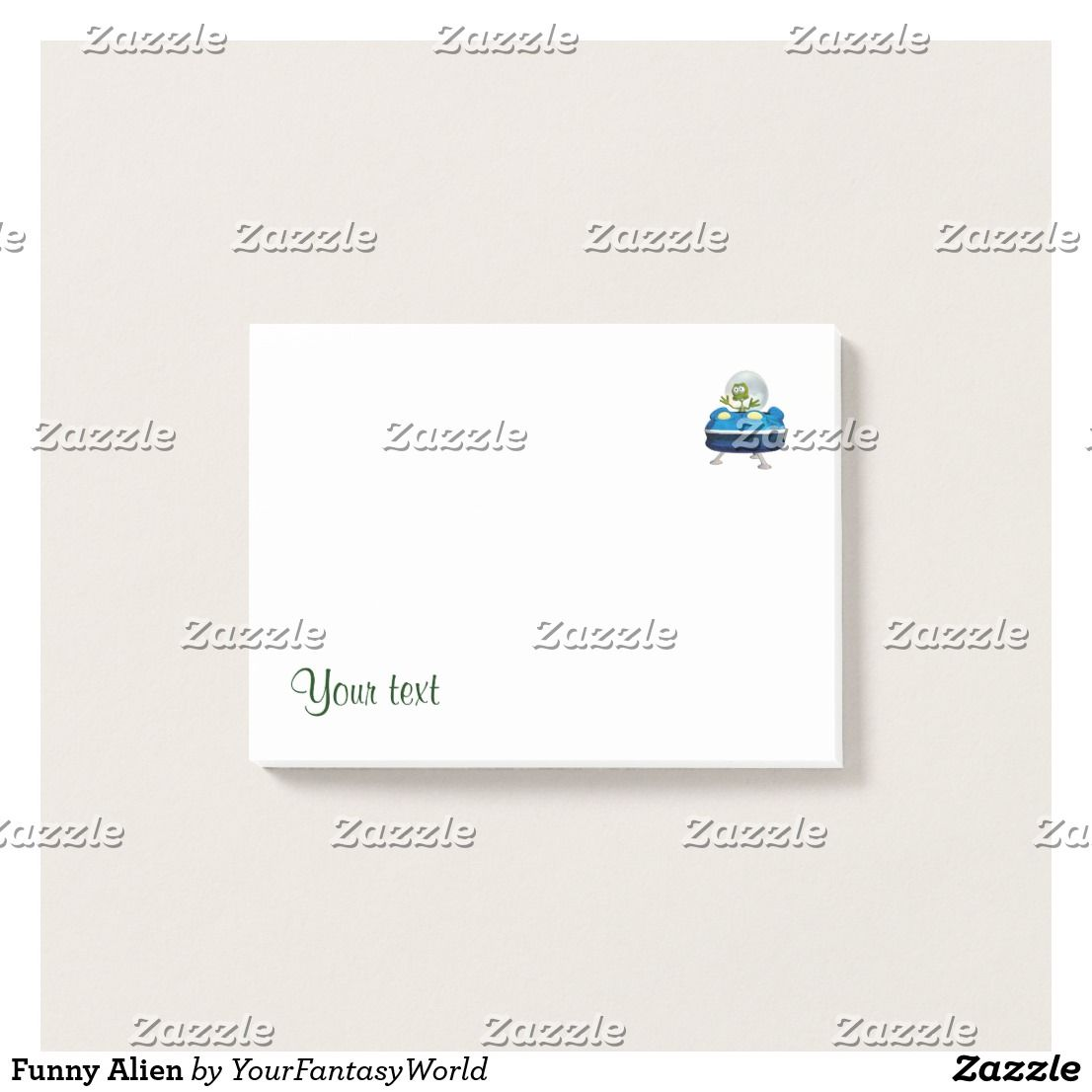 Funny Alien Post It Notes Zazzle