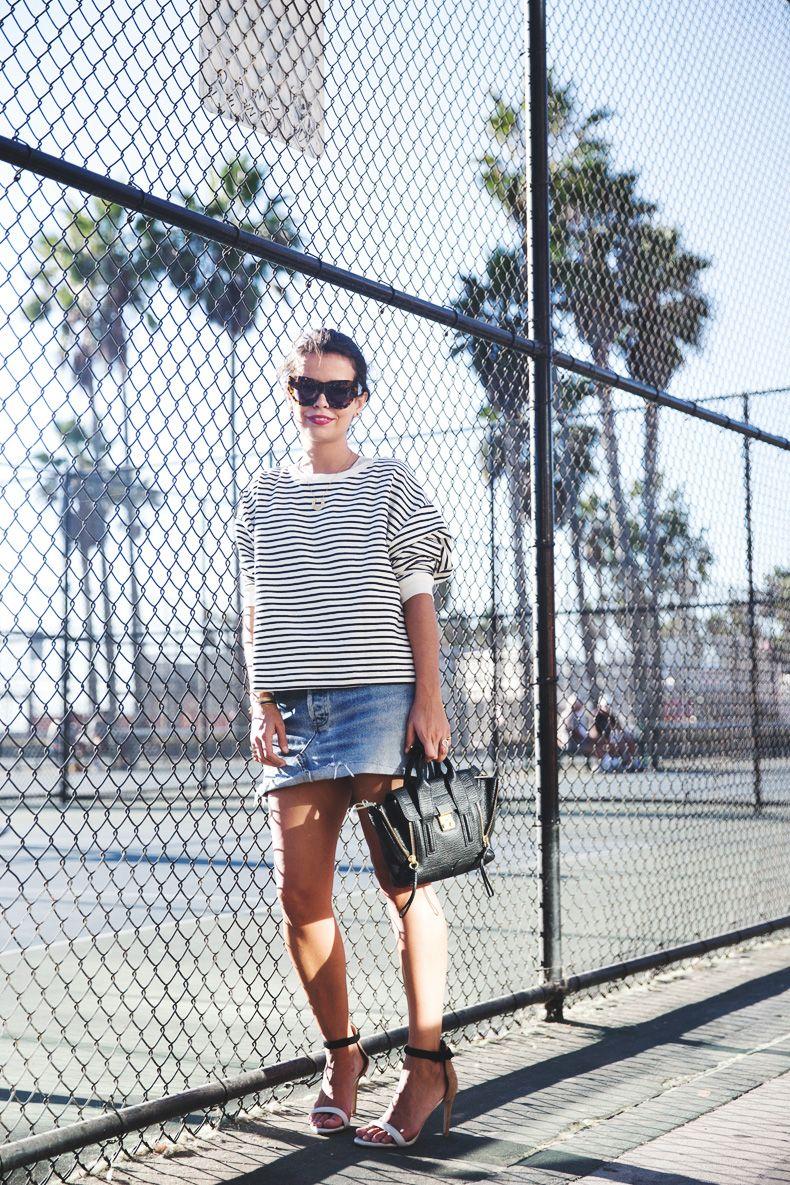 Venice_Beach-Striped_SweatShirt-Denim_Skirt-Revolve_Clothing-Outfit-Street_Style-