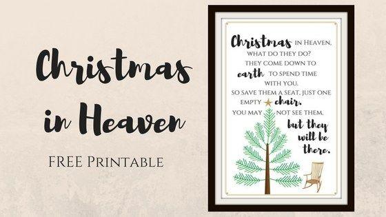 Christmas In Heaven Poem Printable.Free Christmas In Heaven Printable You Will Love Christmas