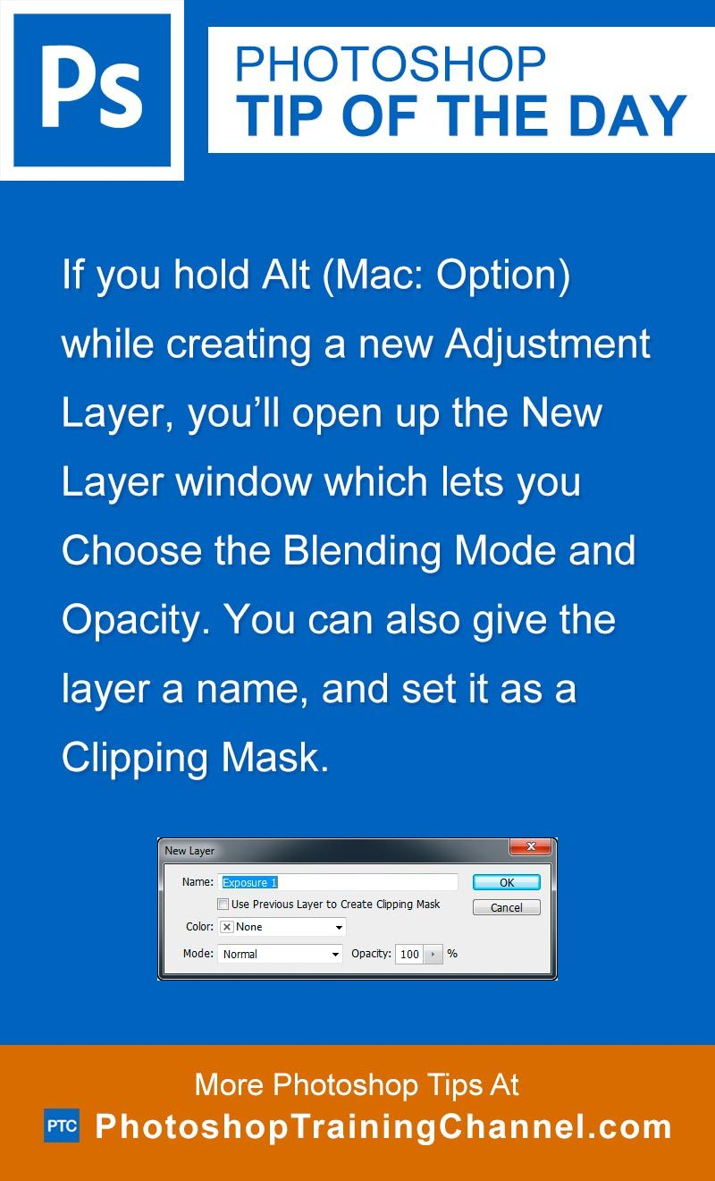 If you hold Alt (Mac: Option) while creating a new Adjustment Layer, you'll open up the New Layer window which lets you Choose the Blending Mode and Opacity. You can also give the layer a name, and set it as a Clipping Mask.