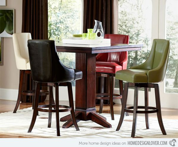A Burst Of Colors From 20 Dining Sets With Multi Colored Chairs Pub Height Table Counter Height Dining Sets Round Dining Table Sets