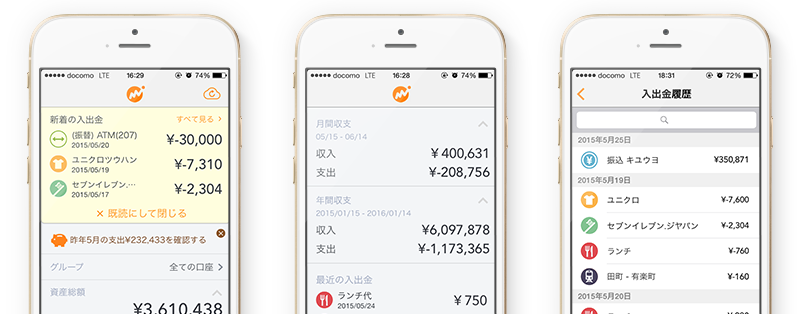 Money Forward App レポート ダッシュボード アプリ Iphone