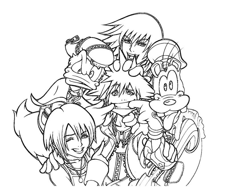 Kingdom Hearts Coloring Pages Pinterest Cricut