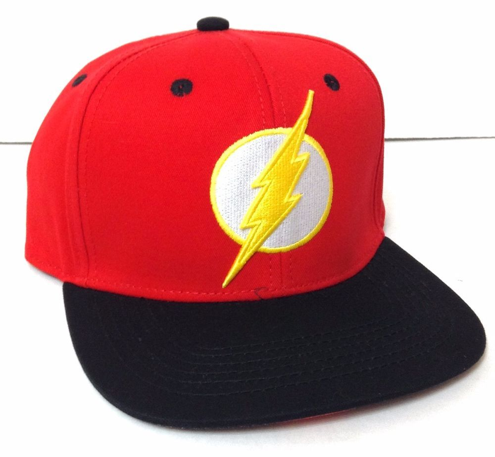 a7058bb5c4b THE FLASH SNAPBACK HAT Red White Black Yellow Lightning Bolt DC Comics  Men Women  DCComics  BaseballCap