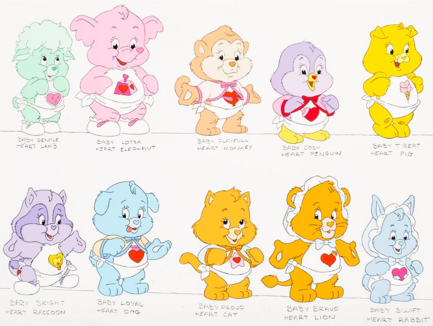 Care Bears Age 4 Birthday Card