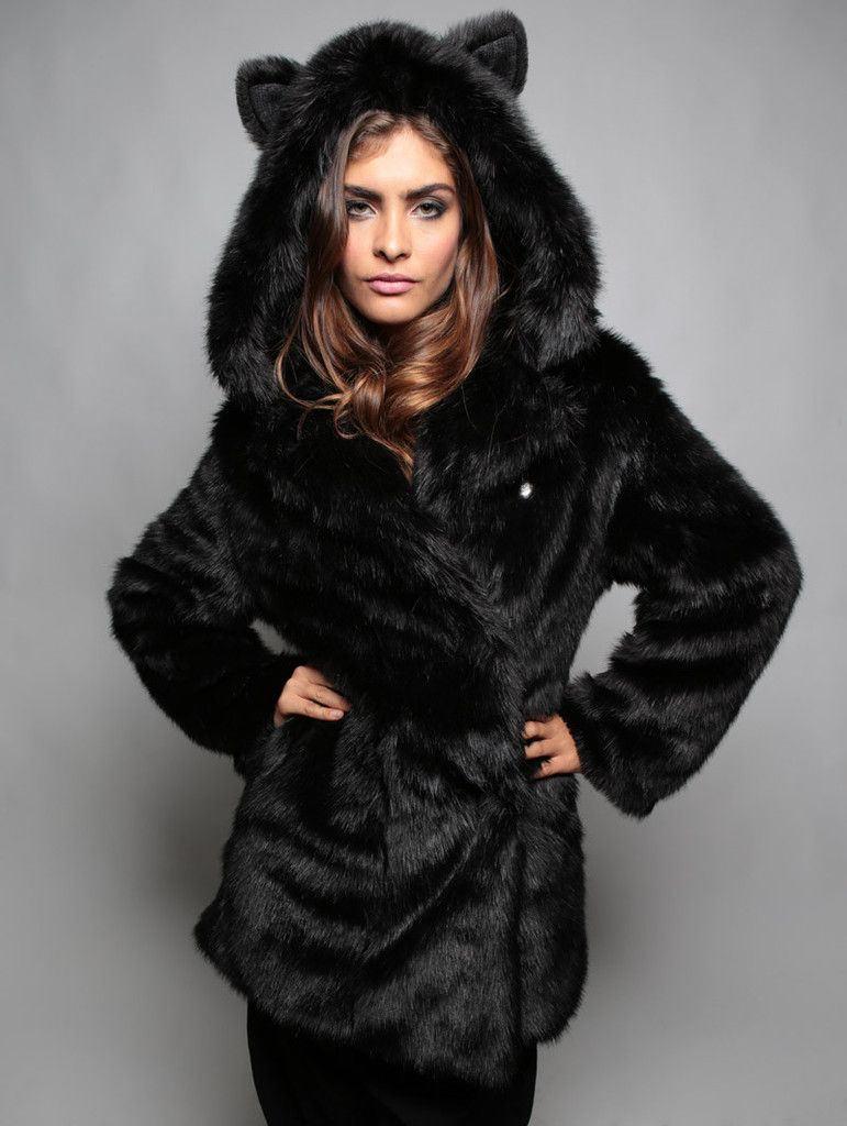 e1b779d8048 Black Panther faux fur animal inspired Jacket (100% Vegan). Available in  Small