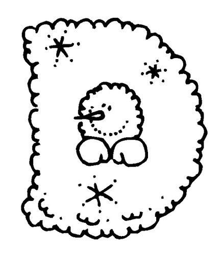 BAÚL DE NAVIDAD Abecedario de Navidad Copos de Nieve para colorear - navidad para colorear