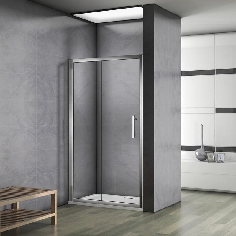 Aica 100 110 120 130 140cm paroi de douche porte Porte de douche 110 cm