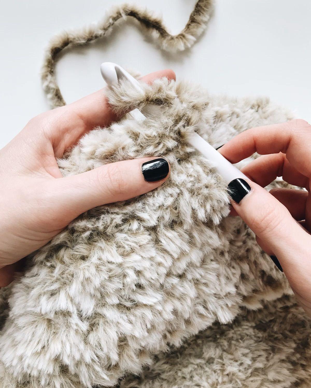 Photo of Crochet with faux fur yarn