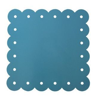 Scalloped Edge Magnet Board - Turquoise