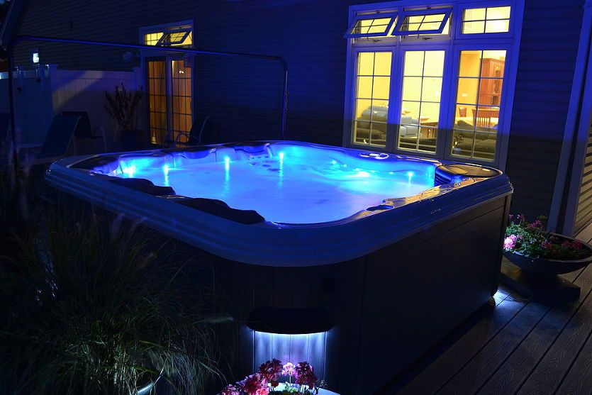Beautiful Nightscapes Can Be As Simple As A Hot Tub Hot Tub Hot Tub Accessories Indoor Hot Tub
