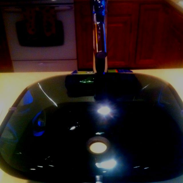 New vessel sink and faucet for my master bath!