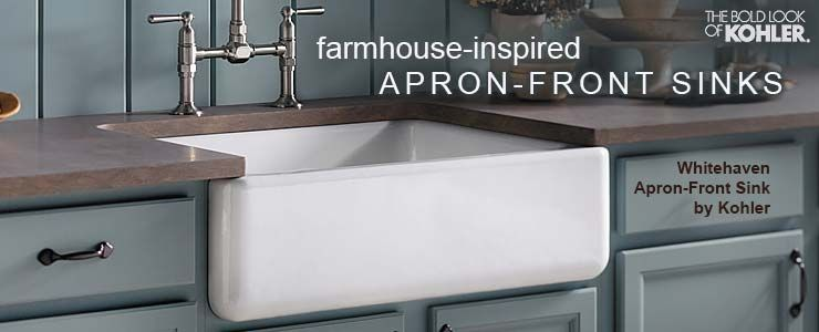 Kohler Apron Front Farmhouse Inspired Whitehaven Collection Farmhouse Apron Sink Farmhouse Sink Kohler Farmhouse Sink