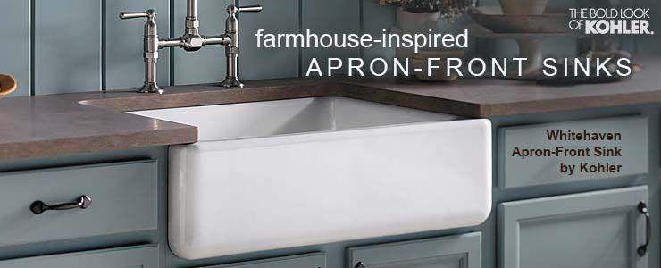 kohler apronfront farmhouse inspired whitehaven collection