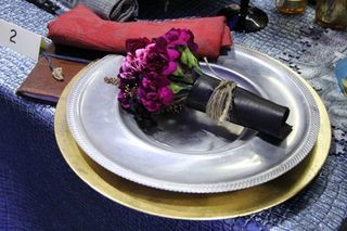 Tussie mussie place setting. Photo: Fly Me to The Moon Florists