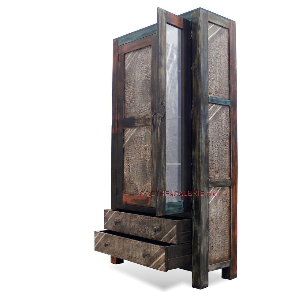 Schrank Industrial moderner schrank m spiegel industrial shabby chic design absolut