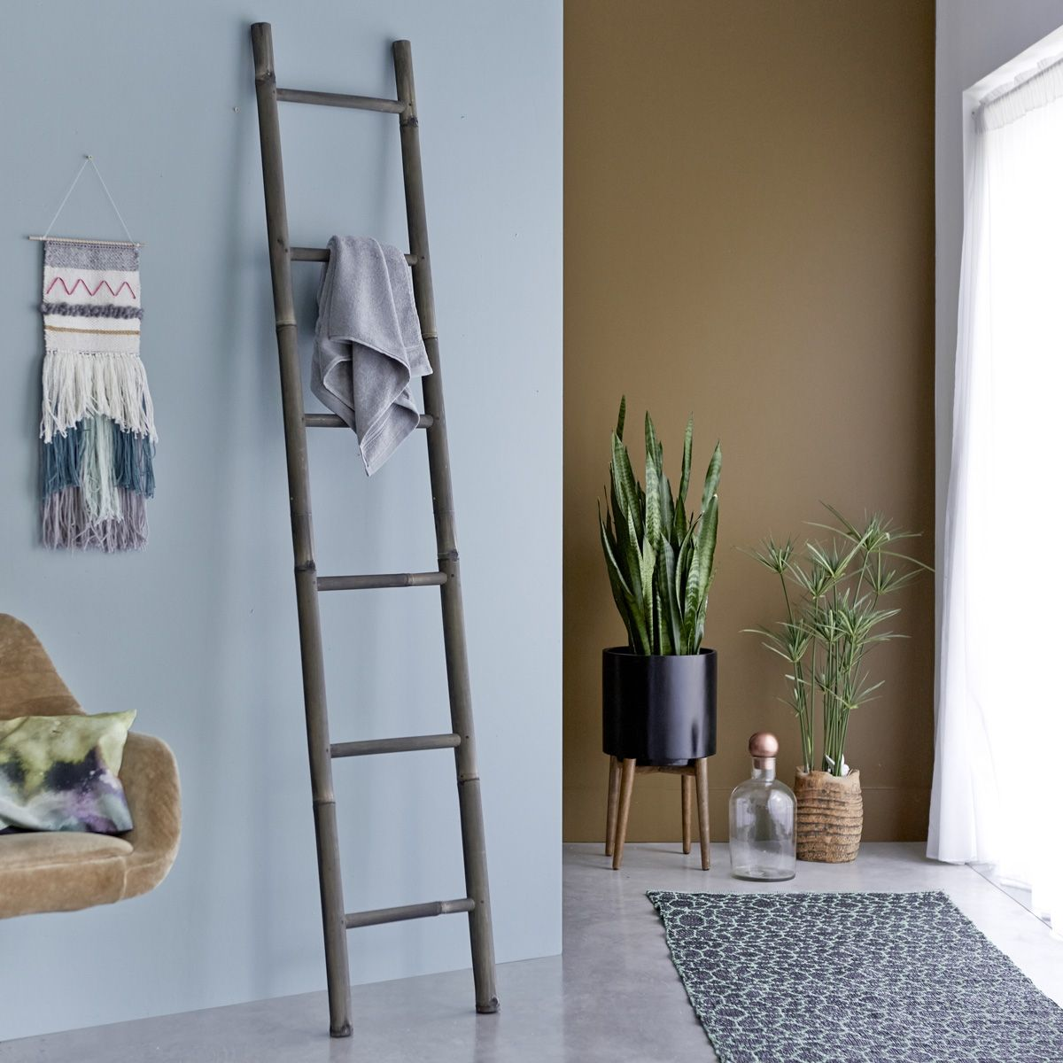 echelle en bambou 200 black les meubles de libellule. Black Bedroom Furniture Sets. Home Design Ideas
