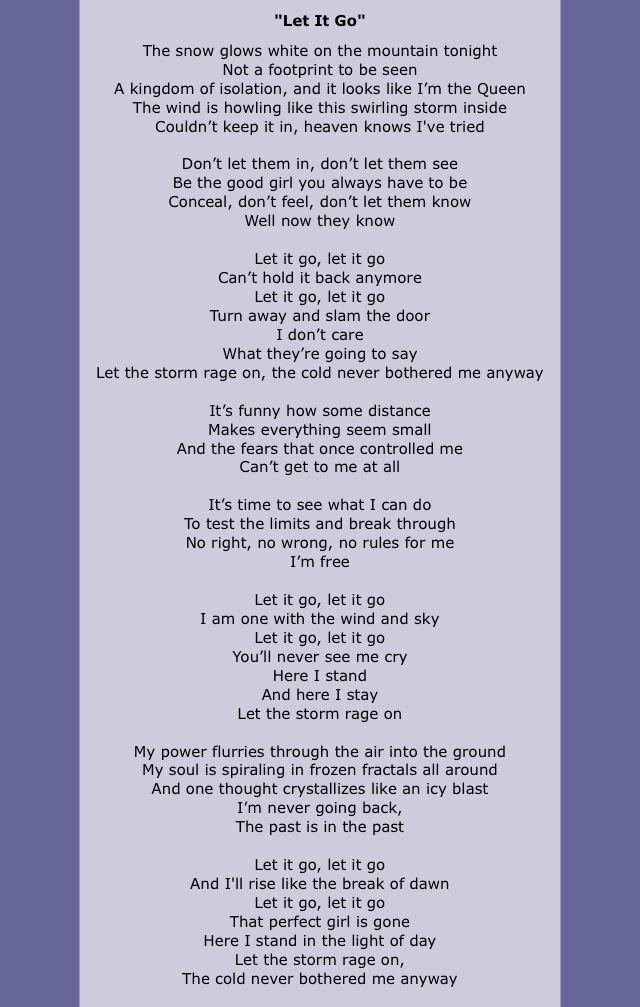 Will you let it go lyrics