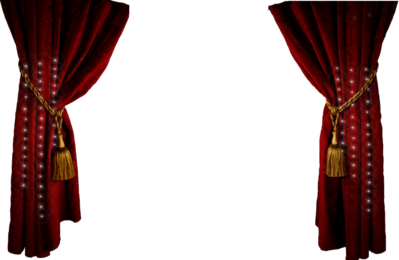 hight resolution of theater stage curtains clip art