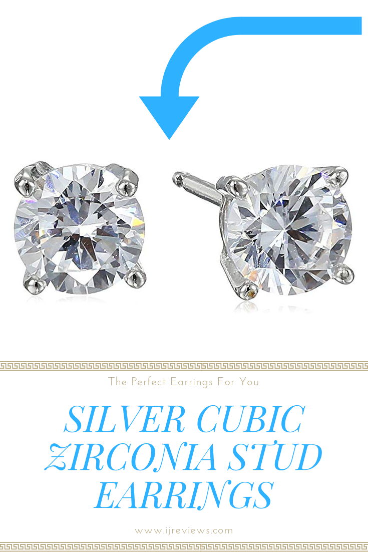 e1cf82034 #Amazon #Essentials #Plated #Sterling #Silver Cubic Zirconia #Stud #Earrings